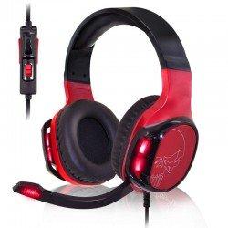 Auriculares con micrófono spirit of gamer elite-h60 red - drivers 50mm - micrófono flexible - retroiluminación led rojo -