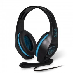 Auriculares con micrófono spirit of gamer pro-h5 blue edition - drivers 40mm - conectores jack 3.5mm - compatible pc/ps4/switch