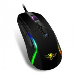 Ratón spirit of gamer pro-m7 - 4800dpi - 7 botones - retroiluminacion led 11 efectos - usb - cable 1.7m