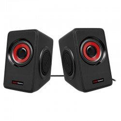 Altavoces mars gaming ms1 - 10w rms - 6 drivers de sonido - sistema subwoofer - alimentación usb - diseño en rojo y negro