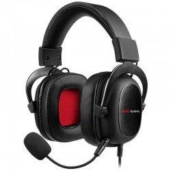 Auricular con micrófono mars gaming mh5 - sonido posicional 7.1 dsp - drivers 53mm - software de control - jack 3.5mm + usb