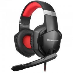 Auriculares mars gaming mhx - drivers superbass 50mm - micrófono con reducción de ruido - cable 200cm - jack 3.5mm/adaptador y