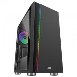Caja semitorre mars gaming mc8 black - usb3.0 - usb2.0 - hd audio+mic - ventilador rgb chroma - lateral cristal templado -