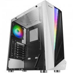 Caja semitorre mars gaming mclw blanca - usb 3.0 / 2*usb 2.0 - hd audio/mic - soporta refrigeración líquida - formato