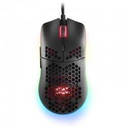 Ratón mars gaming mmax negro - óptico - 12400dpi - iluminación rgb chroma - 7 botones - switches mecánicos huano programables -
