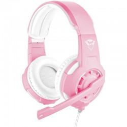 Auriculares con micrófono trust gaming gxt 310p radius pink - drivers 40mm - micrófono - cable 1m para consolas / alargador 1m