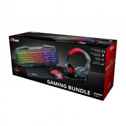 Pack trust gaming gxt 1180rw - teclado gxt 830-rw iluminado - ratón gxt 105 - auriculares - alfombrilla antideslizante