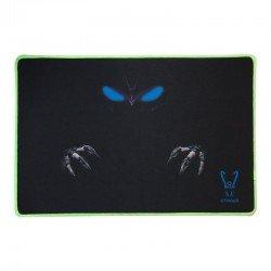 Alfombrilla gaming woxter stinger pad 2 a - superficie tela - base caucho - bordes cosidos luminiscentes - 450*300*4mm