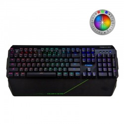 Teclado mecánico gaming woxter stinger rx 2000 k - 104 teclas antighost - switches byk816 -  retroiluminacion led rgb - cable