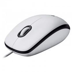 Ratón logitech m100 white - óptico - 3 botones - usb - cable 1.8m