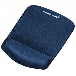 Alfombrilla reposamuñecas espuma foam fusión plustouch fellowes 9287302 - protección antibacterias microban - color azul