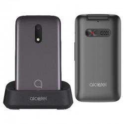 Teléfono móvil alcatel 30.26 metallic gray - pantalla 2.8'/7.1cm qvga - 128mb ram - 256mb rom - microsd - bt - linterna - botón