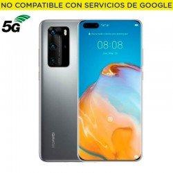 Smartphone móvil huawei p40 pro silver - 6.58'/16.71cm - cam (50+40+12+t0f)/32+t0f mp - kirin 990 - 256gb - 8gb ram - android