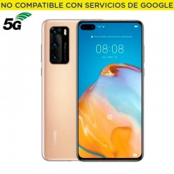 Smartphone móvil huawei p40 gold - 6.1'/15.4cm - cámara (50+16+8mp)/32mp - kirin 990 - 128gb - 8gb ram - android 10 aosp -