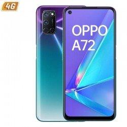 Smartphone móvil oppo a72 aurora purple - 6.5'/16.5cm - snapdragon 665 - 4gb ram - 128gb - cam (48+8+2+2)/16mp - 4g - android -