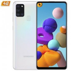 Smartphone móvil samsung galaxy a21s white - 6.5'/16.5cm - cam (48+8+2+2)/13mp - oc - 32gb - 3gb ram - android - 4g - dual sim