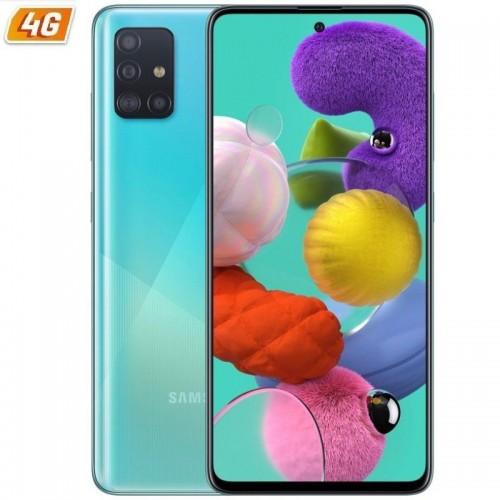 Smartphone móvil samsung galaxy a51 blue - 6.5'/16.5cm - cam (48+12+5+5)/32mp - oc - 128gb - 4gb ram - android - 4g - dual sim
