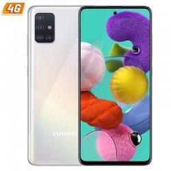 Smartphone móvil samsung galaxy a51 white - 6.5'/16.5cm - cam (48+12+5+5)/32mp - oc - 128gb - 4gb ram - android - 4g - dual sim