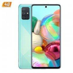 Smartphone móvil samsung galaxy a71 blue - 6.7'/17cm - cam (64+12+5+5)/32mp - oc - 128gb - 6gb ram - android - 4g - dual sim -