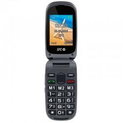 Teléfono móvil libre spc harmony negro - doble pantalla - teclas grandes - dual sim - cámara - tecla sos - bat litio - base