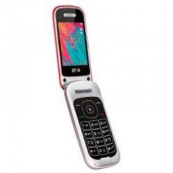 Teléfono móvil spc velvet rojo - pantalla 2.4'/6.09cm 320*240 - dual sim - bt - radio fm - cámara - linterna - agenda 500