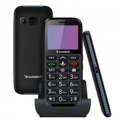 Teléfono móvil senior sunstech cel3bk - pantalla lcd 2.2'/5.59cm - agenda 300 contactos - cámara trasera - fm - bt - linterna -