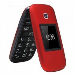 Teléfono móvil libre telefunken tm 260 cosí rojo - pantalla 6.6cm + pantalla 4.5cm - teclas grandes - fm - bt - ranura microsd