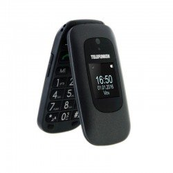 Teléfono móvil libre telefunken tm 250 izy black - pantalla doble 2.4'/6cm 1.44'/3.6cm - bt - teclas grandes - cámara -