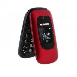Teléfono móvil libre telefunken tm 250 izy red - pantalla 6cm + pantalla 3.6cm - bt - teclas grandes - cámara - bi-banda -
