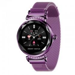 Reloj inteligente innjoo lady crystal purple - registro distancia - ritmo cardiaco - monitorización sueño - waterproof