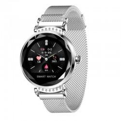 Reloj inteligente innjoo lady crystal silver - registro distancia - ritmo cardiaco - monitorización sueño - waterproof