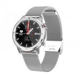 Reloj inteligente innjoo voom classic silver - pantalla 3.38cm - cuantificador salud - notificaciones - bat.230mah -