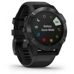 Reloj deportivo con gps garmin fénix 6x pro negro con correa negra - 51mm - pantalla 3.5cm - bt - 10atm - multisport -