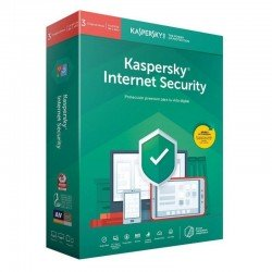 Antivirus kaspersky internet security 2020 - 3 dispositivos - 1 año - no cd