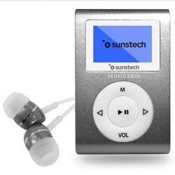 Reproductor mp3 sunstech dedaloiii 8gb grey - pantalla 2.79cm - fm 20 presintonias - grabadora radio/voz - batería - clip