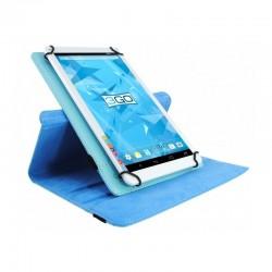 Funda universal 3go csgt22 celeste - para tablets 7'/17.78cm - soporte rotatorio - cierre elástico