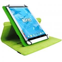 Funda universal 3go csgt17 verde - para tablets 10.1'/25.6cm - soporte rotatorio - cierre elástico