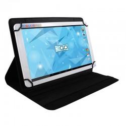 Funda universal 3go csgt26 negra - para tablets 7'/17.78cm - soporte giratorio - cierre elástico