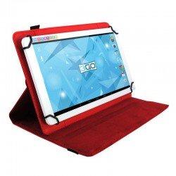 Funda universal 3go csgt21 roja - para tablets 7'/17.78cm - soporte giratorio - cierre elástico