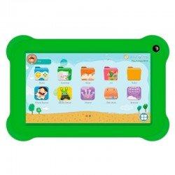 Tablet infantil innjoo k701 blanca con marco protector verde - qc - 1gb ram - 16gb - 7'/17.78cm - android 8.1 go - cam 0.3/2mpx