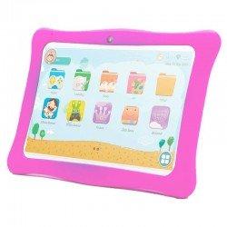 Tablet infantil innjoo k102 blanca con marco protector rosa - qc - 1gb ram - 16gb - 10'/25.4cm - android 8.1 go - bat 4000mah