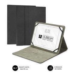 Funda universal subblim clever stand para tablet hasta 10.1'/25.6cm black - material exterior acabado cloth - interior