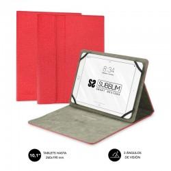 Funda universal subblim clever stand para tablet hasta 10.1'/25.6cm red - material exterior acabado cloth - interior