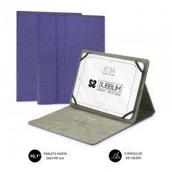 Funda universal subblim clever stand para tablet hasta 10.1'/25.6cm purple - material exterior acabado cloth - interior