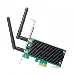 Tarjeta de red tp-link archer t6e - pci express - banda dual 802.11 a/b/g/n 2.4/5ghz - 2 antenas externas