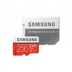 Tarjeta microsd xc + adaptador - samsung evo plus - 256gb - clase 10 - 100mb/s