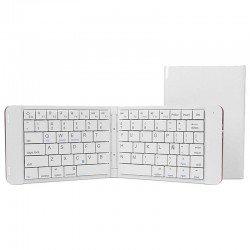 Teclado mini bluetooth leotec lerk04w blanco - plegable - 80 teclas - batería 90mah - abs y aluminio - compatible windows / ios