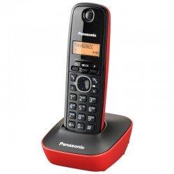 Teléfono inalámbrico dect panasonic kx-tg1611 negro/rojo - identificación llamadas- agenda 50 entradas - pantalla lcd 3.17cm