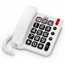 Teléfono sobremesa spc comfort numbers - teclas grandes - 3 memorias directas - manos libres - compatible con audífonos - luz