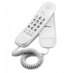 Teléfono de sobremesa o pared compacto spc telecom 3601 blanco - teclado grande - 2 memorias directas / 10 indirectas